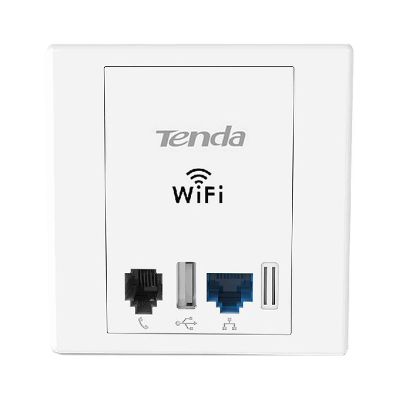 Tenda Networking W312A N300 Wireless Wall Plate Access Point