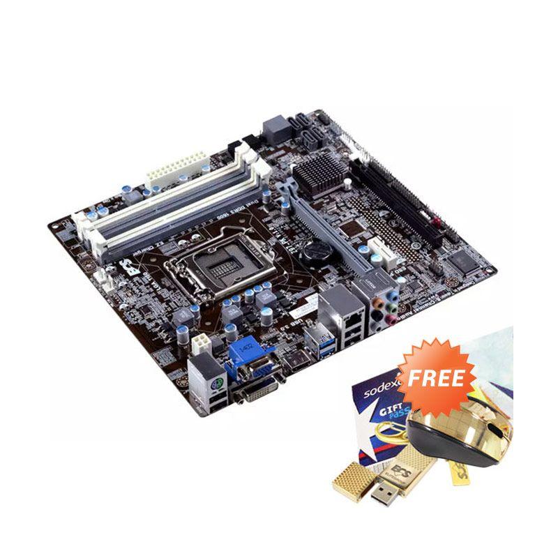 ECS Z97-PK 1150 Motherboard Socket + Flash Disk + Mouse + Voucher Sodexo