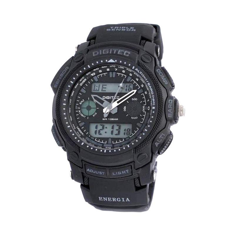 Digitec DG2023T Dualtime Jam Tangan Pria - Hitam