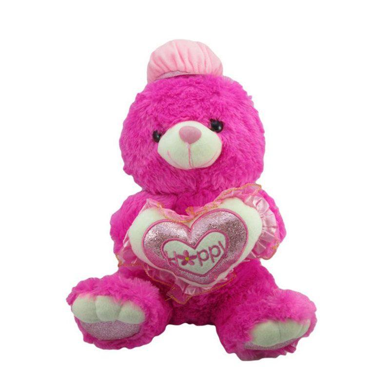 Disney Bear Love Pink Magenta Boneka