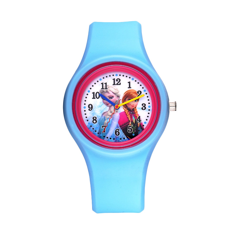 Disney Frozen FZ5415 L1 Light Blue Jam Tangan Anak Fitur Produk Analog watch .