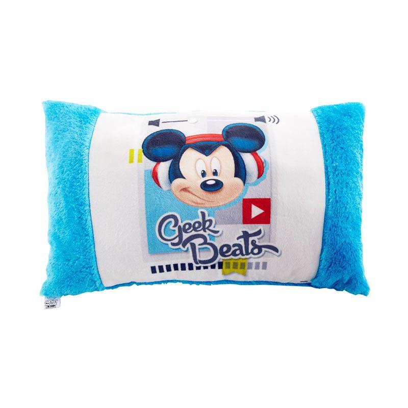 Disney Mickey Mouse Geak Beat Cushion Blue Bantal