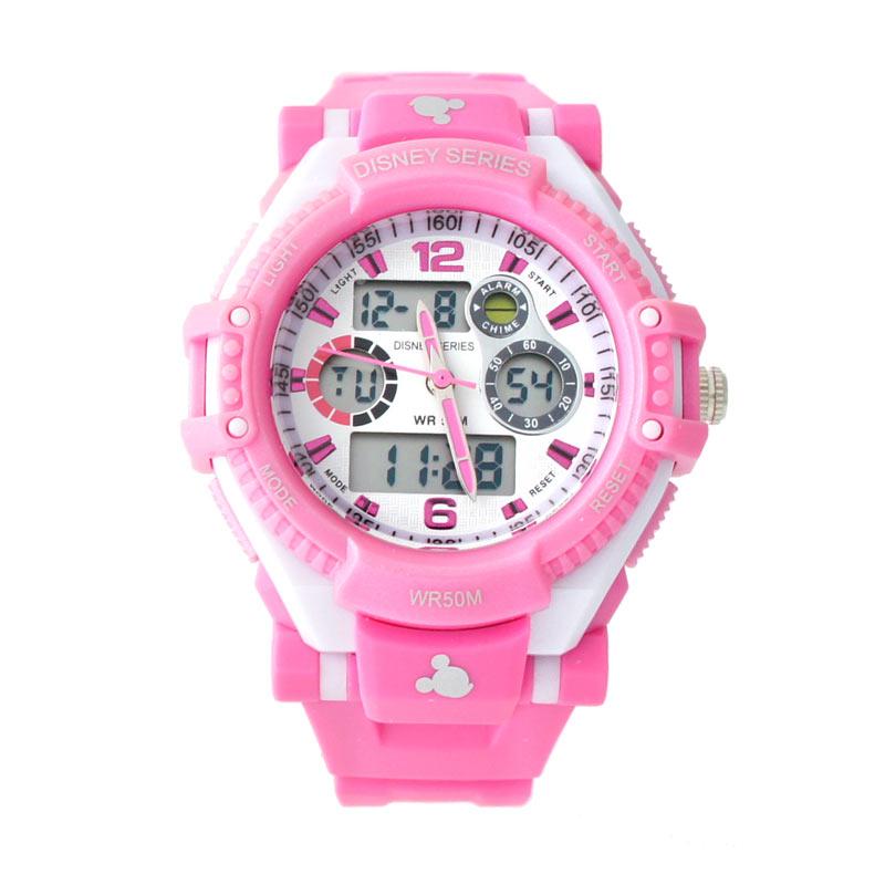 Disney Mickey MS5549-P Pink Jam Tangan Sports Anak