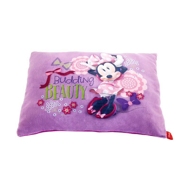 Disney Minnie Mouse Beauty Cushion Purple Bantal