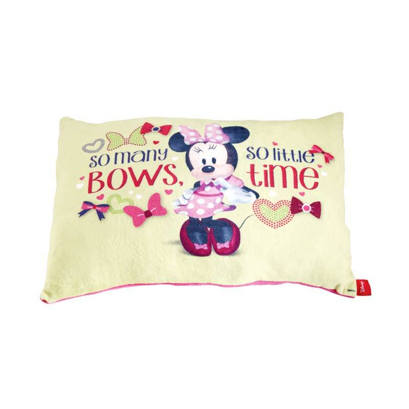 Disney Minnie Mouse So Many Bow Cushion Yellow Bantal