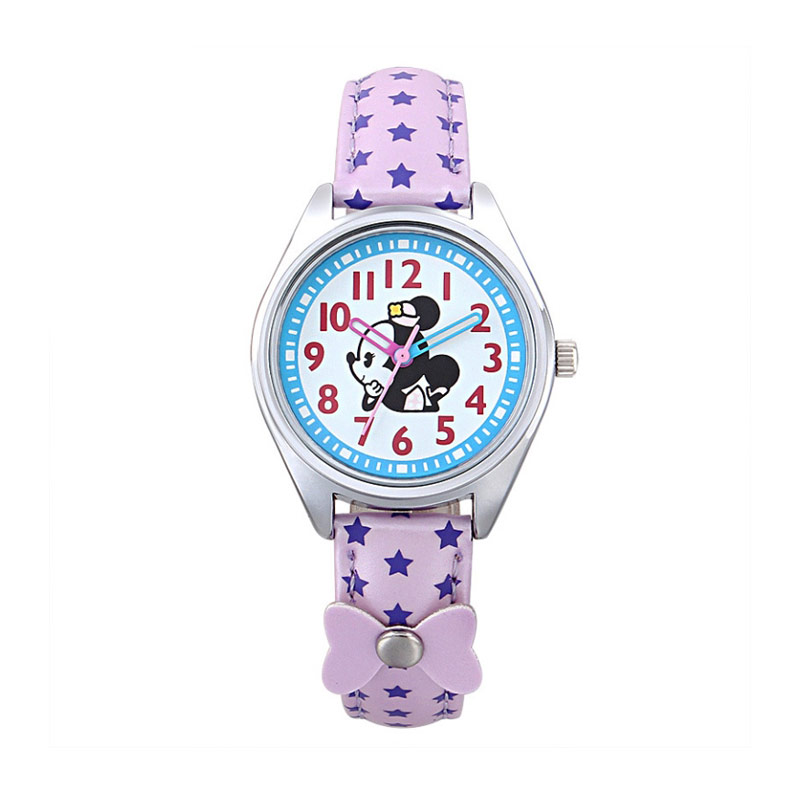 Disney MS54110-PL Minnie Jam Tangan Anak - Ungu
