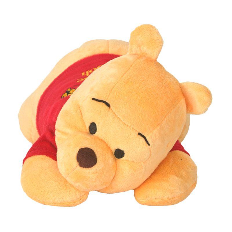 Disney Winnie The Pooh Laying Down Yellow with Shirt Boneka [25 cm]