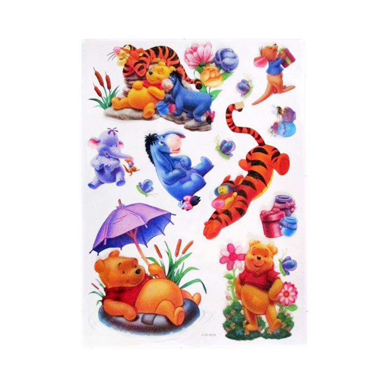 Disney Winnie The Pooh Umbrella CLB Stiker Dinding