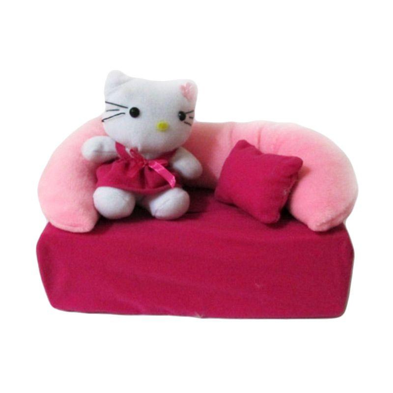 Disney Kotak Tissue Sofa Hello Kitty Pink Magenta