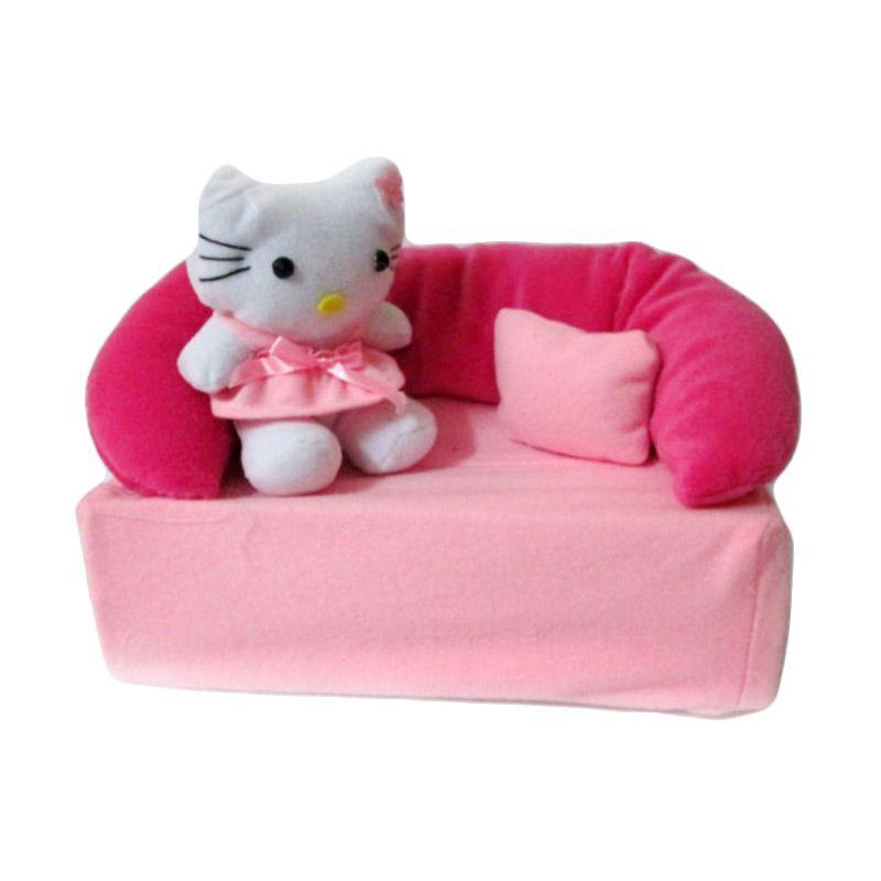 Disney Kotak Tissue Sofa Hello Kitty Pink Muda