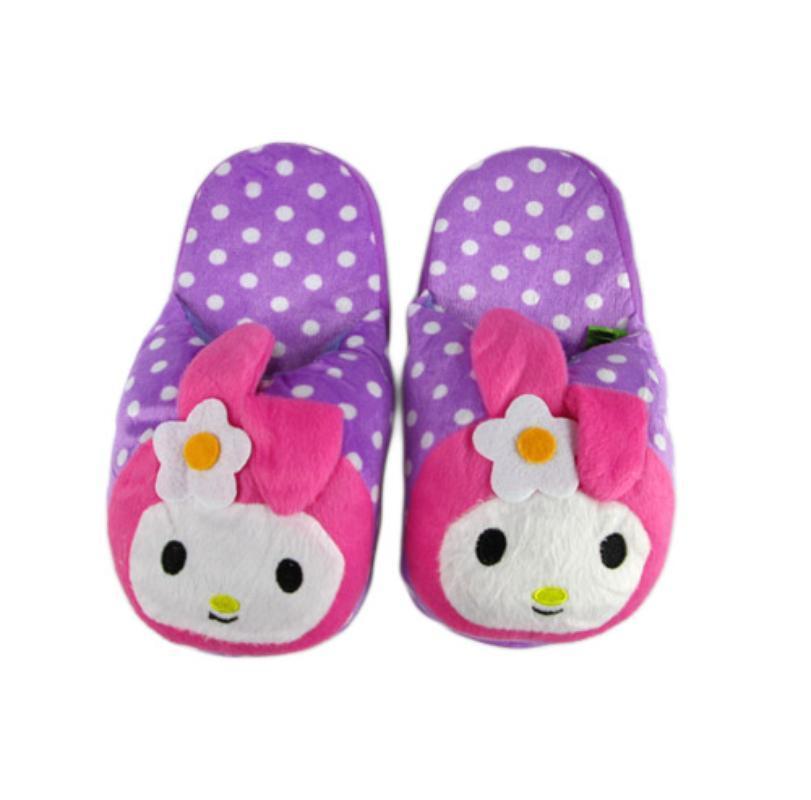 Disney My Melody Polkadot Ungu Sandal Boneka [Dewasa]
