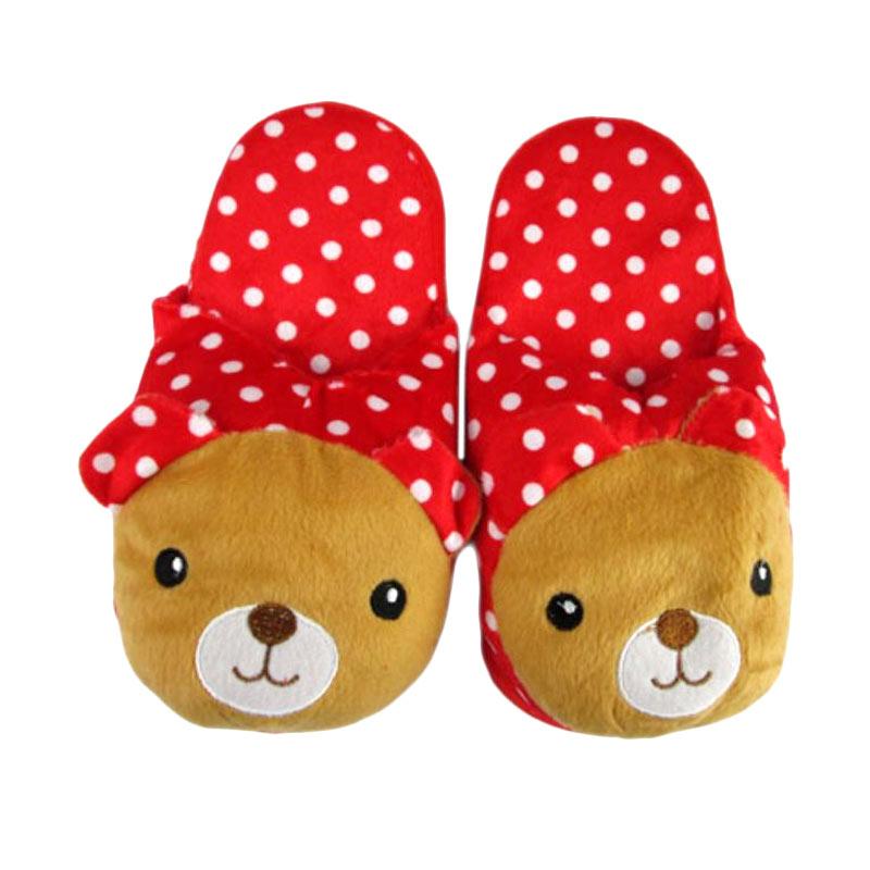 Disney Rilakkuma Polkadot Merah Sandal Boneka [Dewasa]
