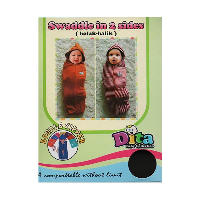 Dita Baby Collection DBB001 Topi 2in1 Bedong Instan - Biru