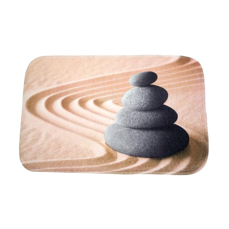 Dixon Motif Batu Sand Stacked Stone Keset Busa - Multi Colour [40x60 cm]