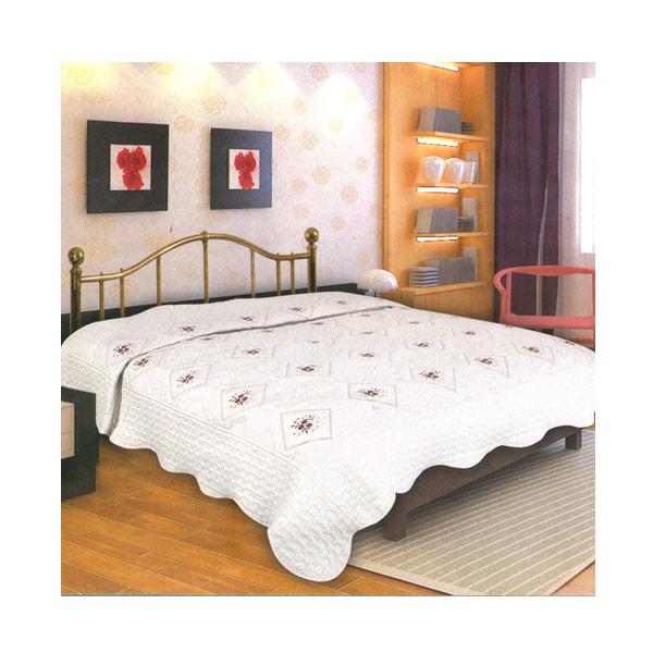 Dixon Katun Bordir Multicolor Selimut - White [180 x 200 cm]