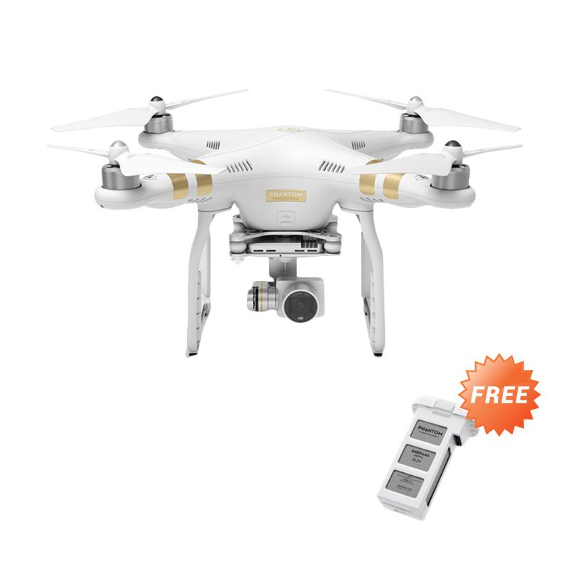 DJI Phantom 3 Profesional Video Kamera Drone - Free 1 Intelligent Flight Battery