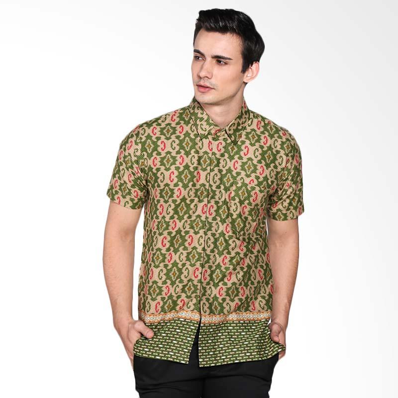 Djoemat Gembira K16-04-47 Atasan Batik Kemeja - Hijau