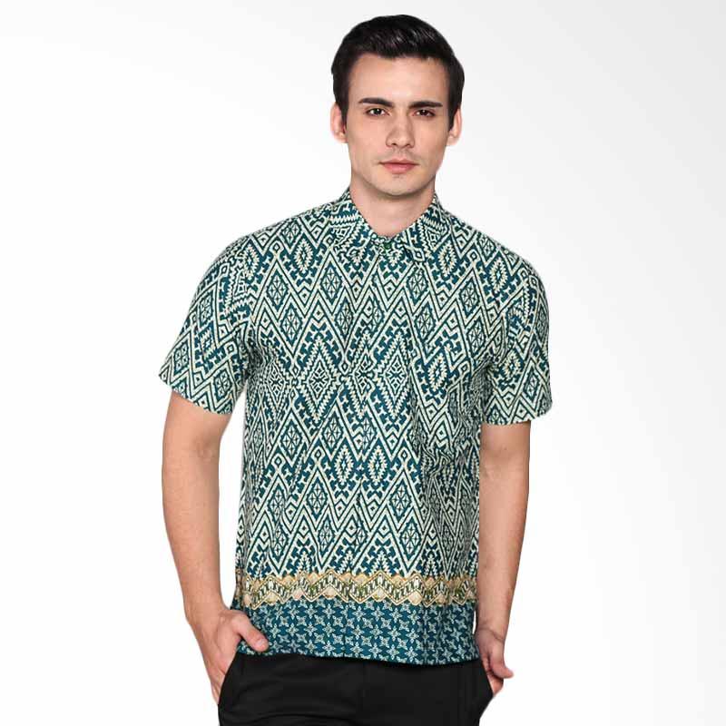 Djoemat Gembira K16-04-51 Atasan Batik Kemeja - Hijau