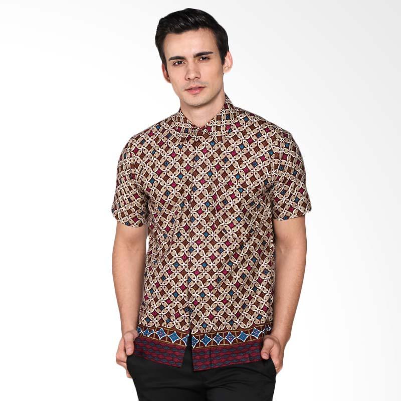 Djoemat Gembira K16-04-49 Atasan Batik Kemeja - Maroon