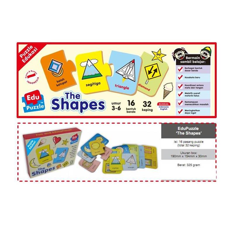 harga Mainan Edukatif / Edukasi Anak - Puzzle Puzzlo The Shapes / Bentuk Blibli.com