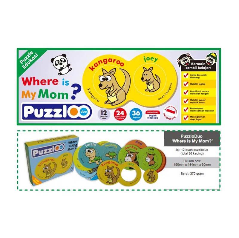 DND Shop Mainan Edukatif/Edukasi Anak - Puzzle Puzzlo Where is My Mom/Hewan