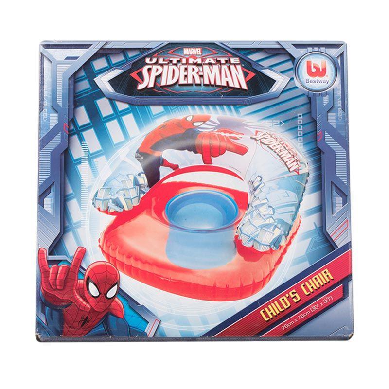 Pongs Bestway Spiderman Child Chair Pelampung Anak [30 x 30 Inch]