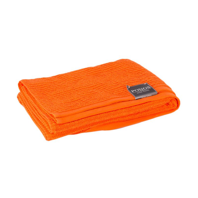 Pongs Bath Towel Jacquard 9548 Orange Handuk [70 x 140 cm]