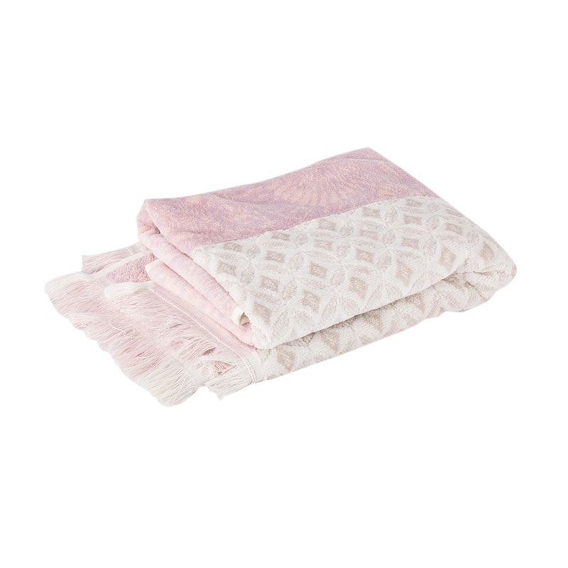 Pongs Travel Towel D078 Pink Handuk [50 x 100 cm]