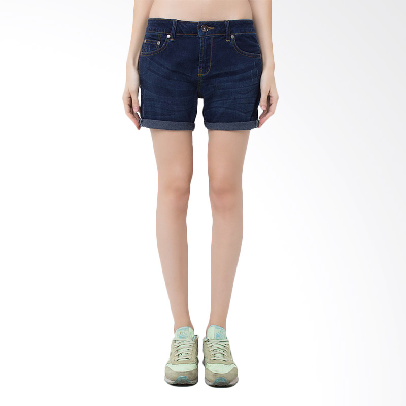 People's Denim Ladies Short Spherro RU Slim Fit Hotpants - Biru