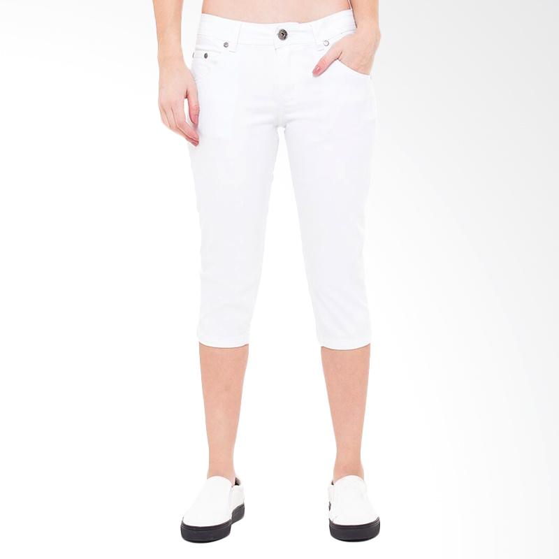 People's Denim Nikeisha 7/8 Slim Fit Celana Wanita - Putih