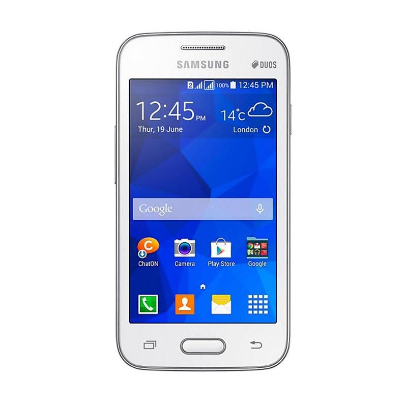 Samsung Galaxy V Plus White Smartphone