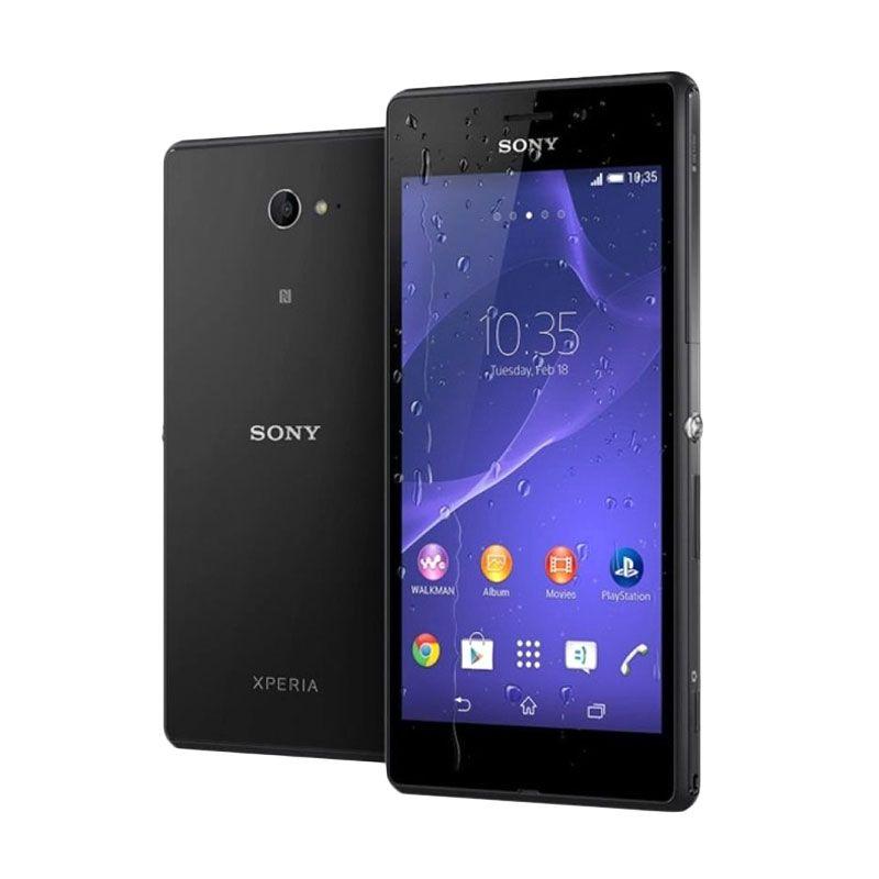 Sony Xperia M2 Aqua Hitam Smartphone
