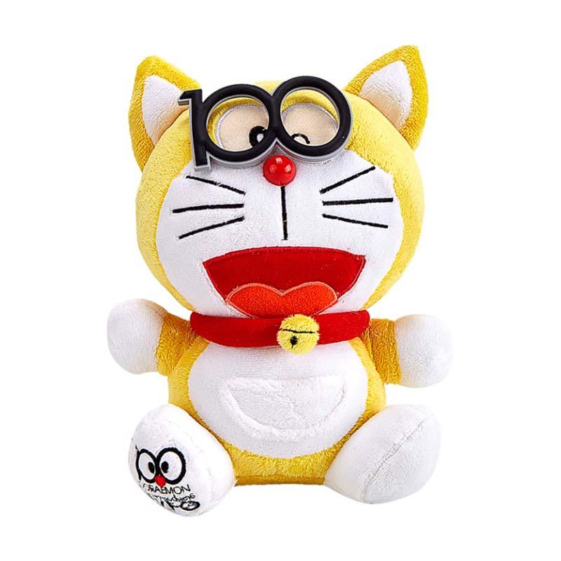 Doraemon With Glasses Mainan Anak - Yellow