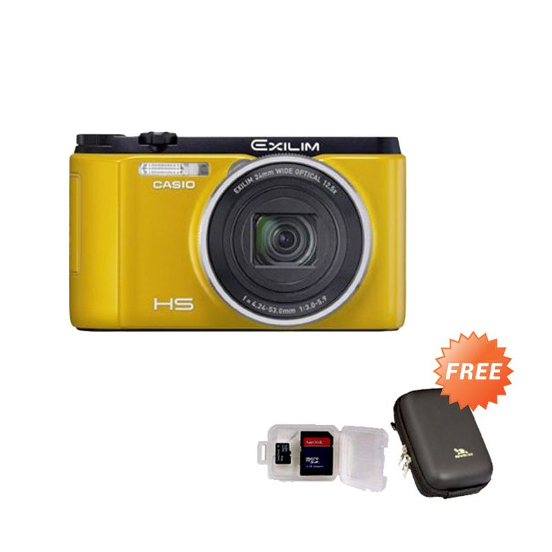 Casio EX ZR 1500 Kuning Kamera Pocket + Memory Card [8 GB] + Case
