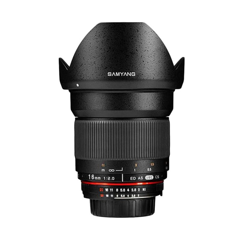 Samyang 16mm F/2.0 Wide Angle Lensa Kamera for Nikon