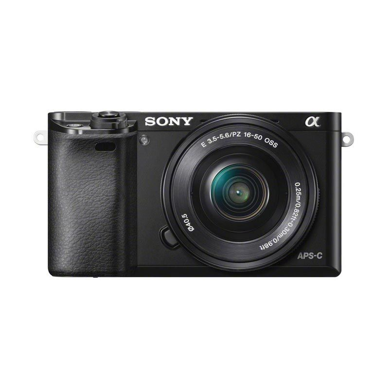 Sony Alpha a6000 L 16-50mm Hitam Kamera Mirrorless