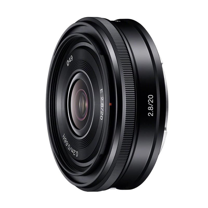 Sony E 20mm F2 8 E mount Fix Lens Lensa Kamera