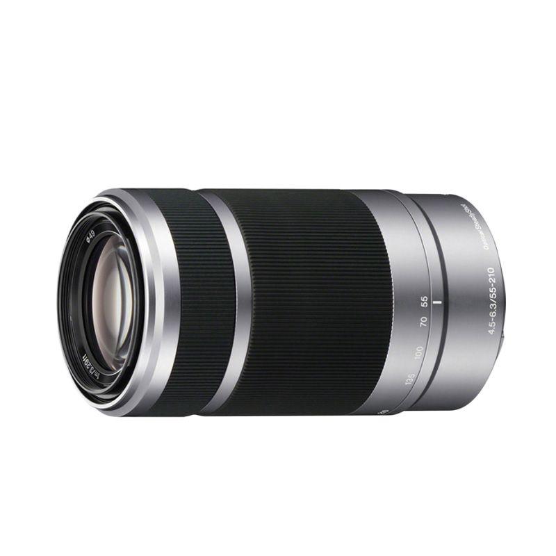Sony E 55-210mm Silver Lensa Kamera