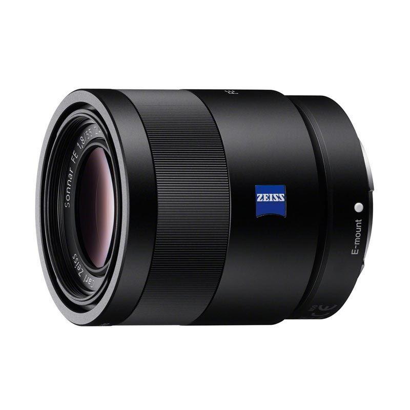 Sony Sonnar T* FE 55mm f/1.8 ZA Hitam Lensa Kamera