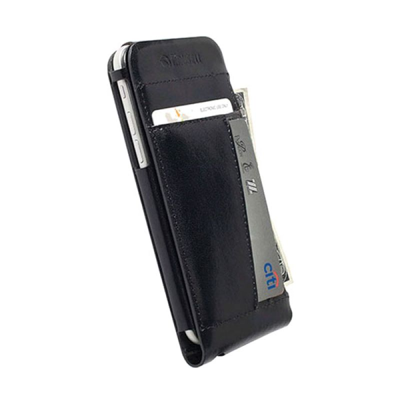 Krusell Kalmar Flip Wallet Case for iPhone 6 Plus Hitam