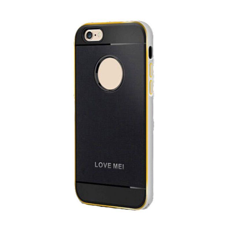 Love Mei Double Colour Aegis Silver Casing for iPhone 6