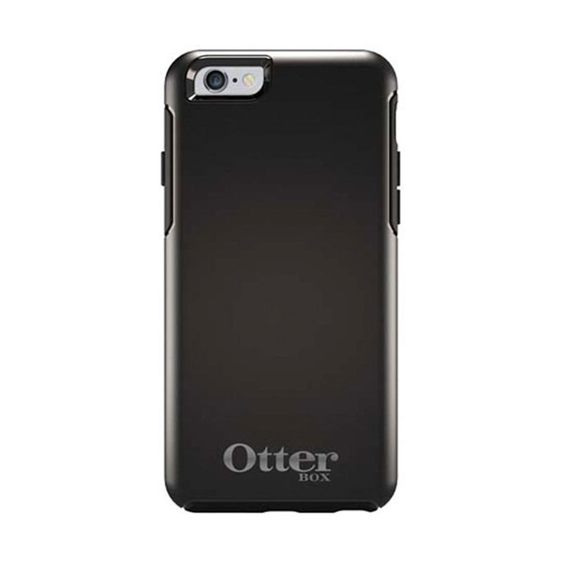 OtterBox Symmetry Series Casing Limited Edition Black Silver For iPhone 6 + Bonus