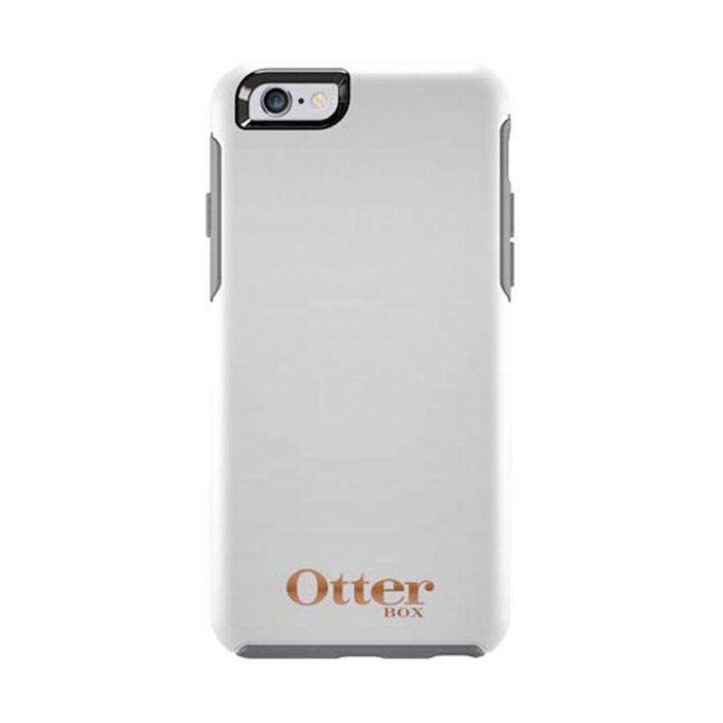 OtterBox Symmetry Series Casing Limited Edition White Gold For iPhone 6 + Bonus