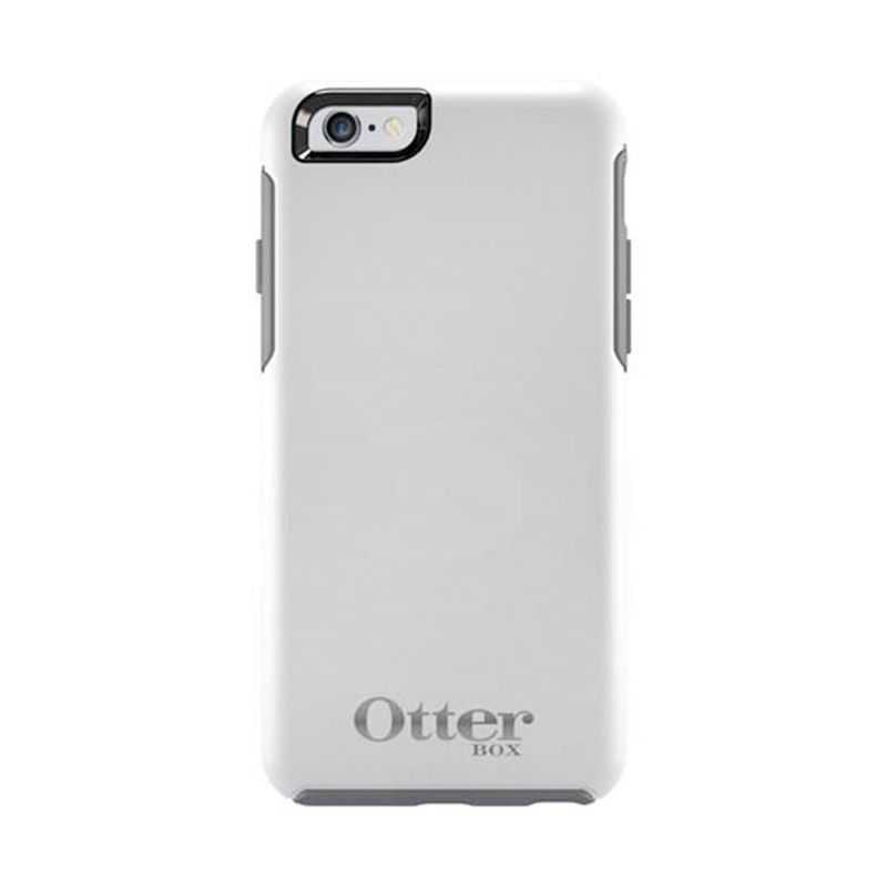 OtterBox Symmetry Series Casing Limited Edition White Silver For iPhone 6 + Bonus