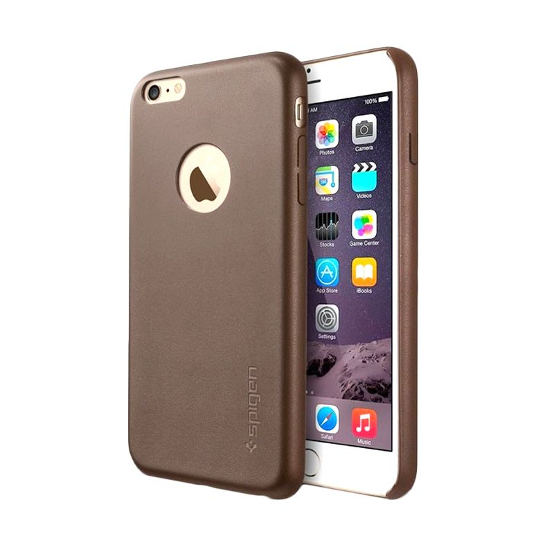 Spigen Leather Fit Series Brown Casing for iPhone 6 Plus