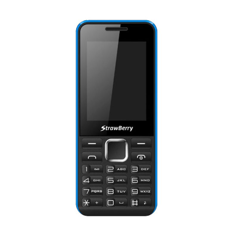 Strawberry ST11 One Black Blue Candy Bar Handphone [Dual SIM]