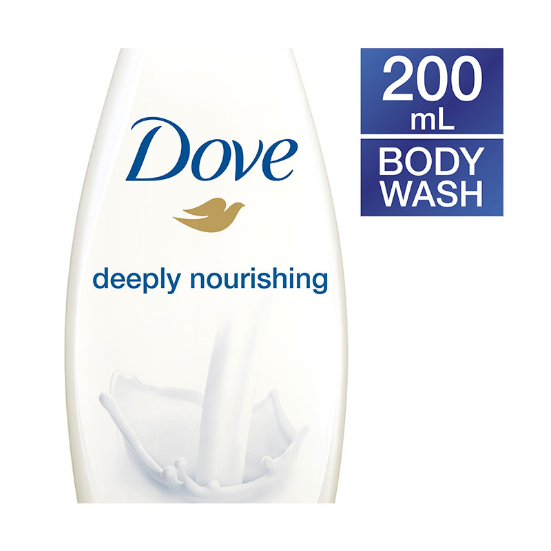 Dove Deeply Nourishing Body Wash Bottle 200ml