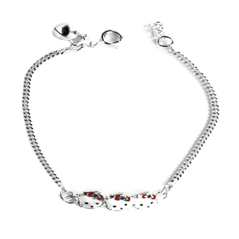 Dparis Hellokity Head Baby Bracelet Silver Gelang