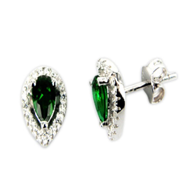 Dparis Oval Emerald Earings