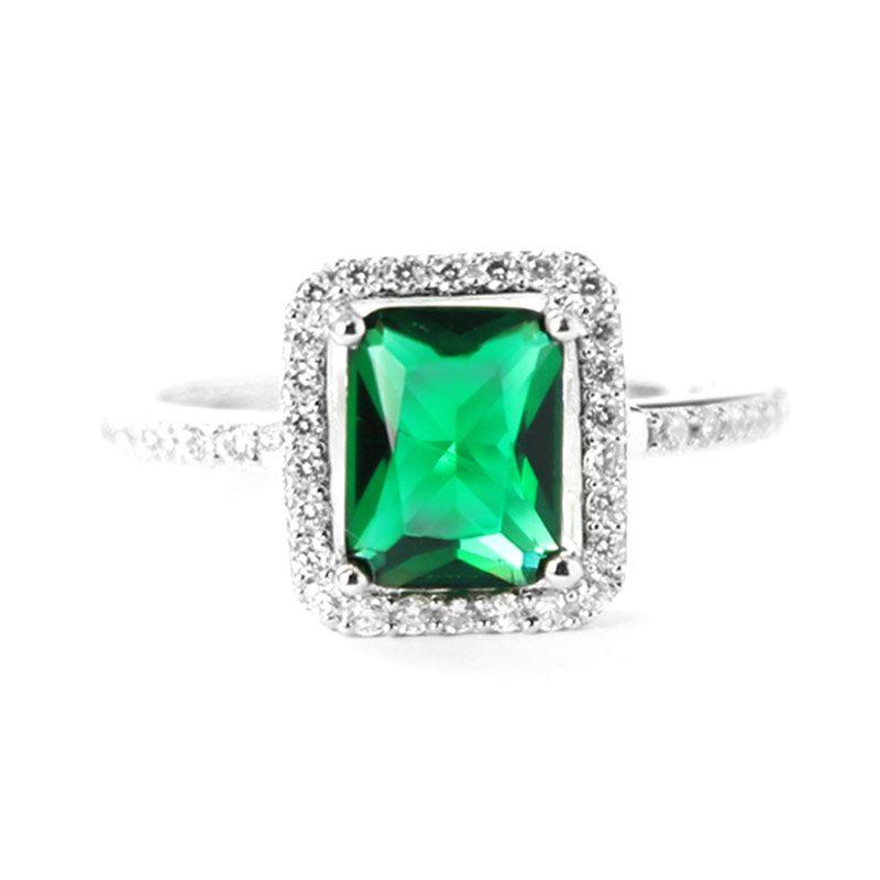 Dparis Rectangle Emerald Ring